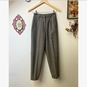 Ralph Lauren • Wool Houndstooth Trousers